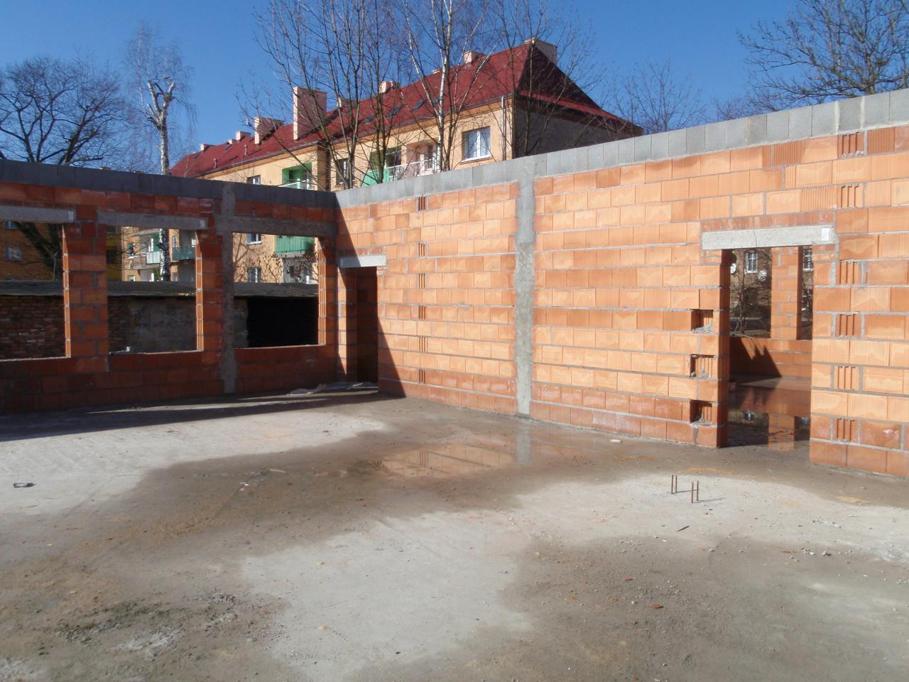 Postępy na budowie przedszkola.