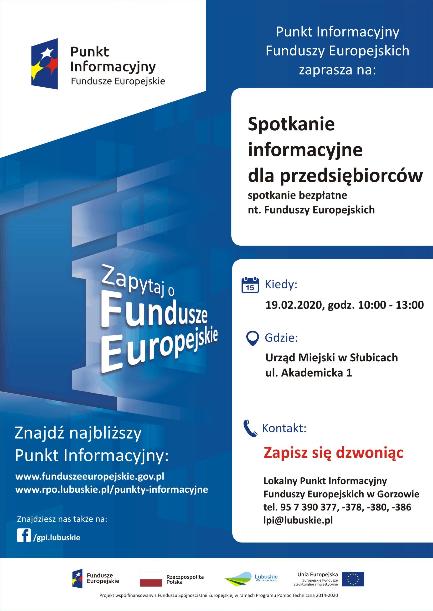 Spotkanie informacyjne dla przedsiębiorców w Słubicach