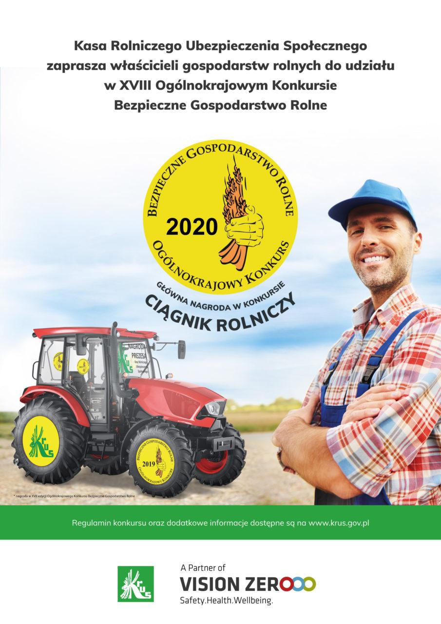KRUS zachęca do udziału w konkursie Bezpieczne Gospodarstwo Rolne