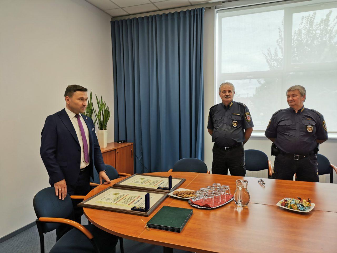 Krzyże Zasługi dla Strażników Miejskich w Słubicach
