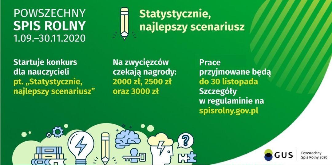 """Główny Urząd Statystyczny zaprasza do działu w Konkursie pt. """"Statystycznie, najlepszy scenariusz""""."""