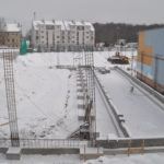 Budowa hali sportowej.