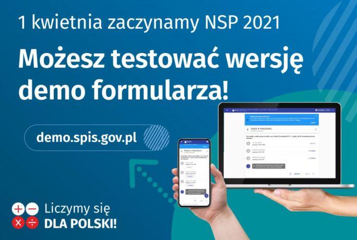 Wersja testowa formularza spisowego Narodowego Spisu Powszechnego Ludności i Mieszkań 2021.
