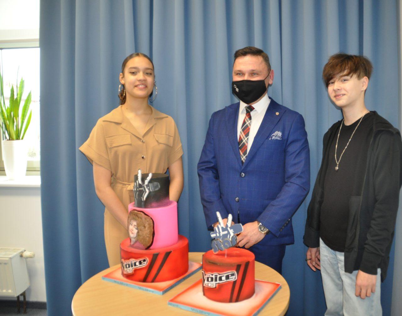 – Pięknie reprezentowaliście Słubice – dziękował burmistrz zwyciężczyni The Voice Kids i uczestnikowi programu